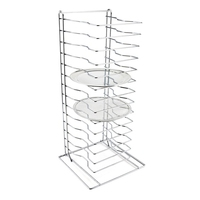 Pizza Stack Rack Chrome Plated 15 Slot
