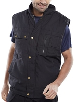 Hudson Black Lined Body Warmer