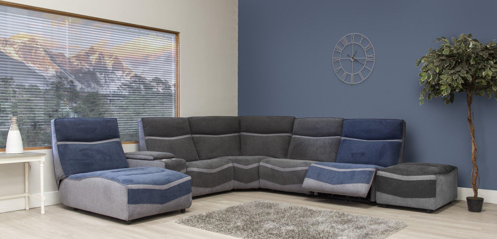 Lazio Modular - Grey & Blue