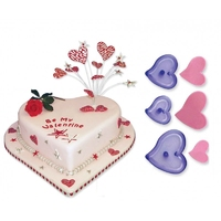 112SP012 FUNKY HEARTS SET OF 3