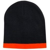 Acrylic Two Tone Roll Down Beanie