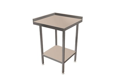 Corner Wall Bench 650mm x 650mm x 900mm with Right Hand Upstand