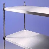 Racking S/S Solid Shelves 4 Tier 800 x 500 x 1800mm