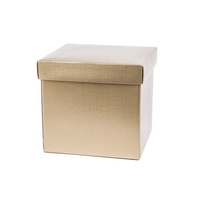 BOX GIFT & LID 200X200X190MM GOLD