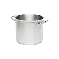 Genware Stockpot No Lid Stainless Steel 18/10 8 Litre 240mm