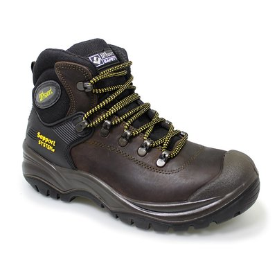 Gri Sport Contractor Brown Waxy Leather Safety Boot