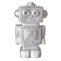 Heico children's lamp - silver robot