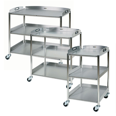 Surgical Trolley with 3 Stainless Steel Trays