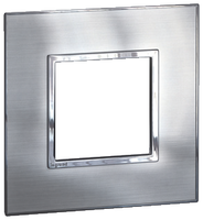 Arteor (British Standard) 1 Gang 2 Module Square Stainless Steel | LV0501.0199