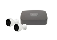 IC Realtime Wave 4 Channel 1TB DVR Kit with 2 x C2Max 4MP 2.8mm White IR/PIR Bullet Cameras