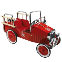 high-quality metal pedal-car - fire engine