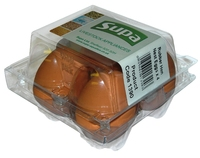 Supa Rubber Hen Nest Eggs - Box 4 Eggs x 1