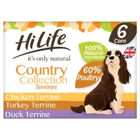 HiLife 'ION' Dog Can Country Collection Terrines 6pk x 2