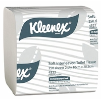 4322 Toilet Tissue Interleaved 2 Ply 250 Sheet x 36 Pkt