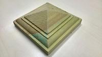 Peaked Decking Newel Post Cap 125 x 125 mm