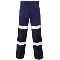 Supertouch Balistic Trouser Long - with Hi-Visibility Tape, Navy