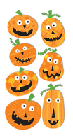 Pumpkin Faces Large Essential Craft Sticker. (Priced in singles, order in multiples of 6)