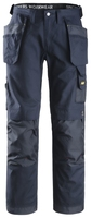 Snickers 3214 Navy/Navy Canvas & Platform Trousers