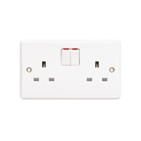 Schneider Ultimate 2Gang Switched Socket IP20