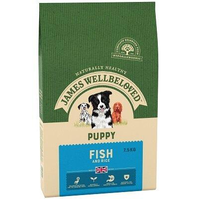 James Wellbeloved Fish & Rice Puppy Food 7.5kg