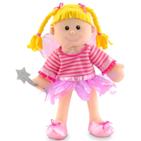 Fairy Hand Puppet with magic want and sparkly wings