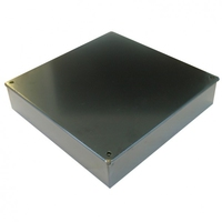 9 x 9 x 2 Galvanised Knockout Adaptable Box