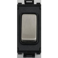 Flatplate Grid Black Nickel 2way Retractable switch black|LV0701.1050