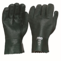 Green PVC Double Dipped 27cm Gloves