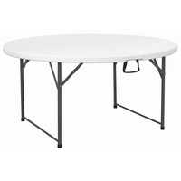 Round Table Centre Folding 150 x 74cm