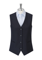 Navy Bella Single Breasted Ladies Waistcoat