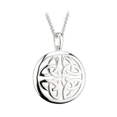 sterling silver four trinity knot pendant s46471 from Solvar