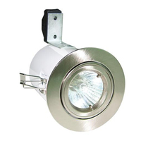 Fire/Acoustic Rated Satin Chrome Downlight 12v