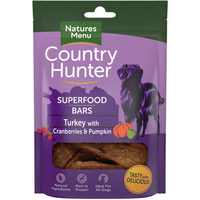 Natures:Menu Country Hunter Superfood Bar Turkey, Cranberries & Pumpkin 100g x 7