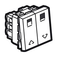 Arteor Double Switch For Shutter 2 Module Square - White  | LV0501.2582