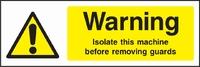 Warning and Machinery Hazard Sign WARN0009-1795