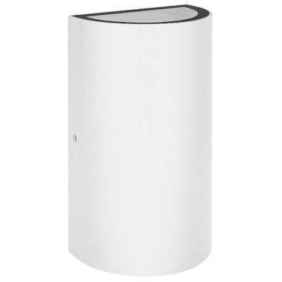 LEDVANCE White Outdoor Up/Down Wall Light, 12w 3000k Warm White