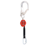 MILLER Turbolite Personal Fall Limiter 2 Metre Webbing + Scaffold Hook + Twistlock Karabiner