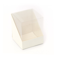 BOX PVC 100X100X120MM SOFT WHITE