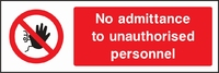 Prohibition and Access Sign PROH0001-1176