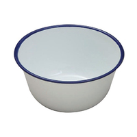 Falcon 16cm Enamel Pudding Bowl, white