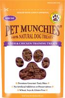 Pet Munchies Dog Training Treats Liver & Chicken 50g x 8