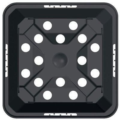 Teku MQC11 Square Pot Injection Moulded with Tag Lock 11cm x 11cm x 12cm - Black
