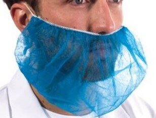 Polypropylene Disposable Beard Cover (Pack of 100)