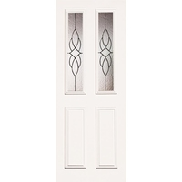 Indoors Claremont Primed Door Cathedral Leaded Glass 78X30