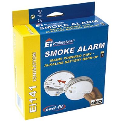 Aico Ei141RC Ionisation Smoke Alarm Mains Hush