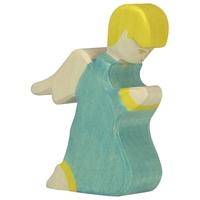 Holztiger Angel 3, kneeling