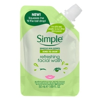 Simple Kind To Skin Refreshing Facial Wash Travel Pouch 50ml
