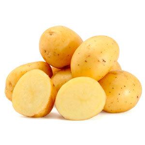 Chipping Washed Potato