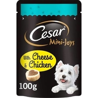 Cesar Mini-Joys Dog Treats - Cheese & Chicken 100g x 6