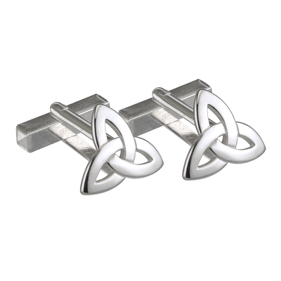S/S TRINITY KNOT CUFFLINKS SMALL (BOXED)